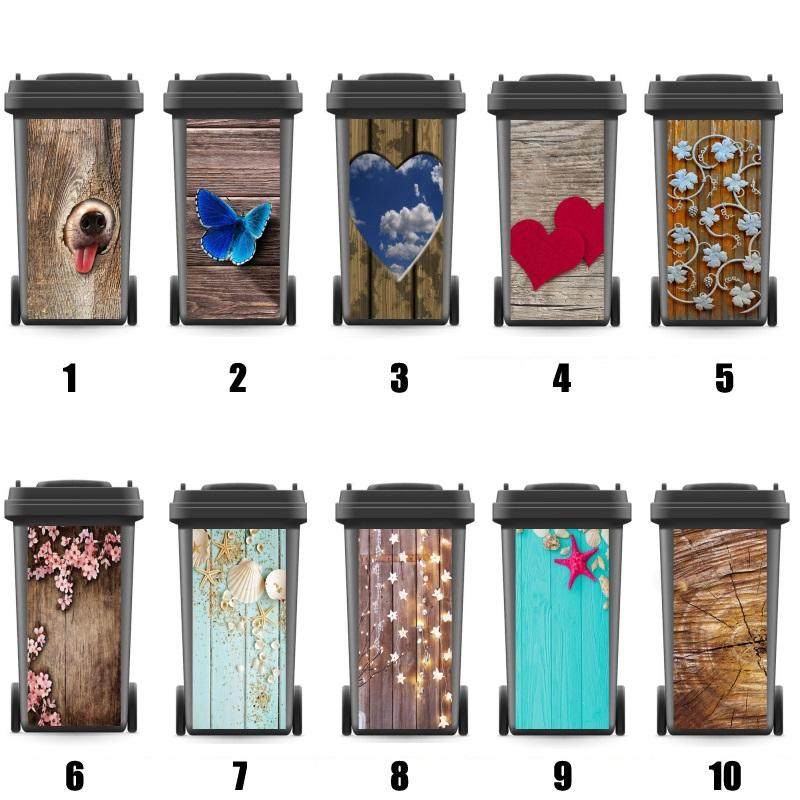 DIY Modern adesivo removível impermeável adesivos decalques Rubbish Bin etiqueta Acessórios de cozinha 240 litros 120 litros