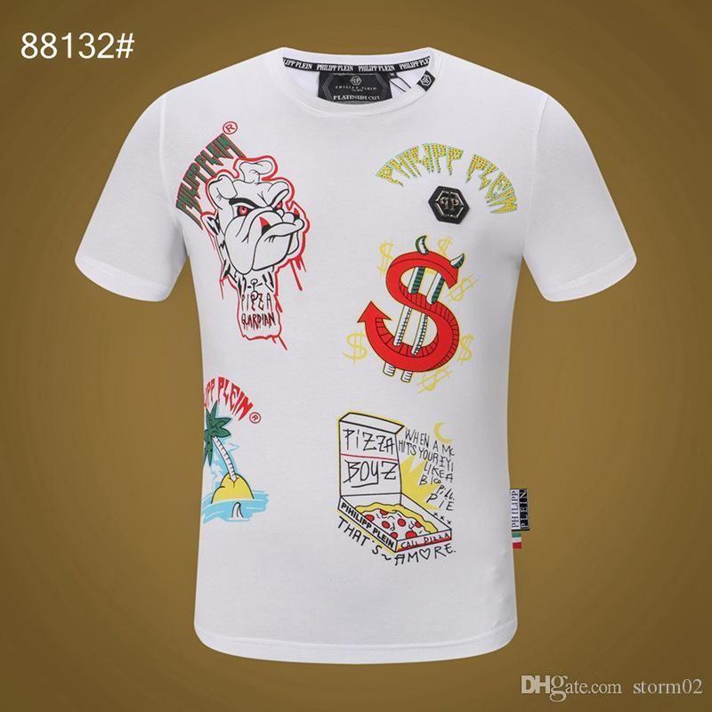 Männer Sommer-T-Shirt Designer heiße Art und Weise kurze Ärmel Schädel T-Shirt Kleidung Freizeithemd der neuen Männer-T-Shirt Kleidung Y0L54234563