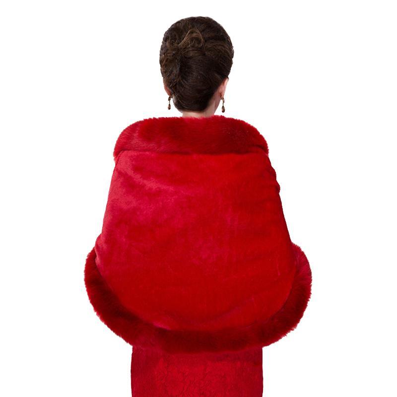 Cubra Wedding Faux Fur Xales Wraps Shrugs nupcial Inverno Warm Up Partido Evening Fur Stoles Capes Chaqueta Para Vestido De Fiesta