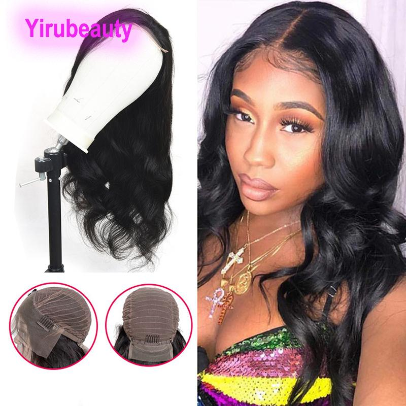 13X4 Lace Front Wig Straight Body Wave Deep Wave Brazilian Virgin Hair Indian Human Hair 8-30inch Natural Black Pre Plucked Lace Front Wigs