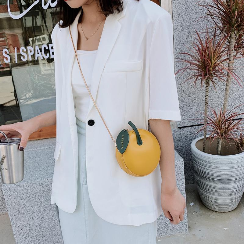 Bonita redonda bolsa moda em forma de bolsa crossbody círculo saco feminino mini cadeia casual ombro mulheres anauh