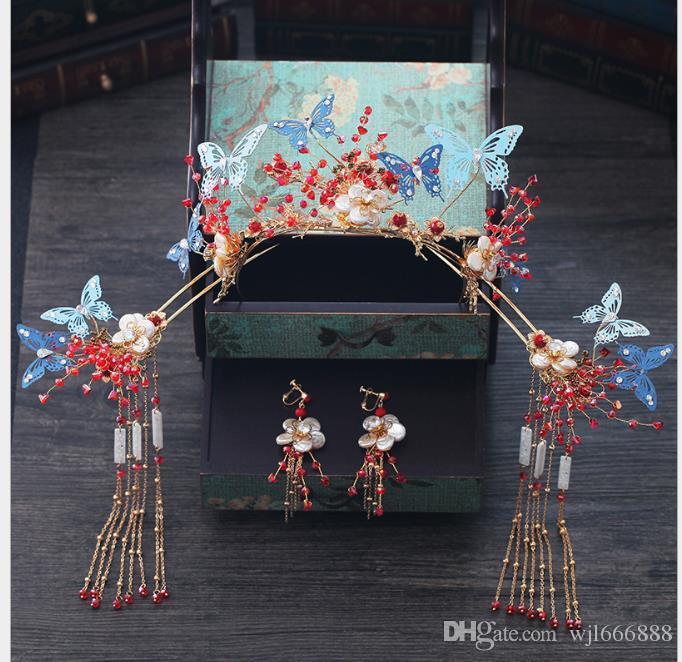 New-style Xiuhe toast Fengguan Xia Su-lu Su-bu shake old-fashioned hairdress and decorative suit