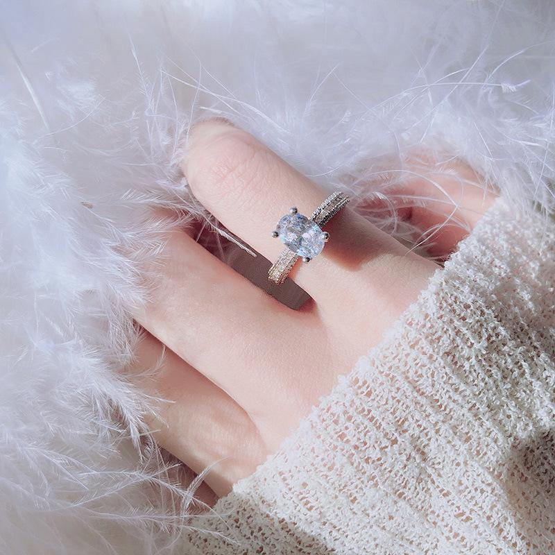 S925 Sterling Silver 2 s VVS2 Diamond Ring for Women Oval White Topaz Natural Gemstone Bizuteria Silver 925 Jeweler Rings