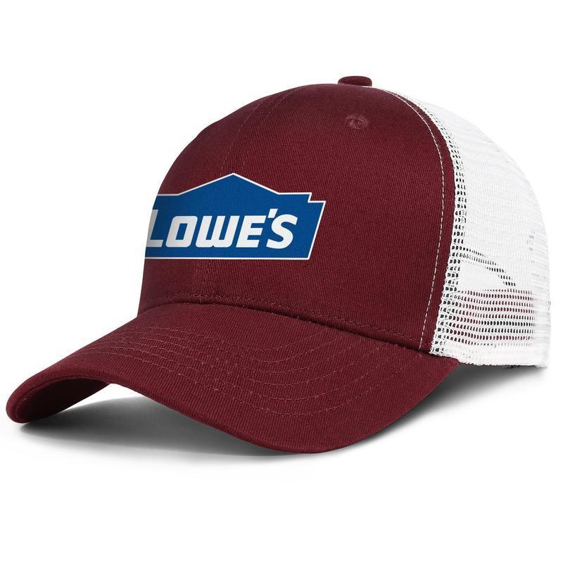 Fondo azul blanco logotipo de Lowe ajustable unisex blanco Cricket Cap encargo del camionero serie de coco árbol rojo moda del sombrero de béisbol de Lowe