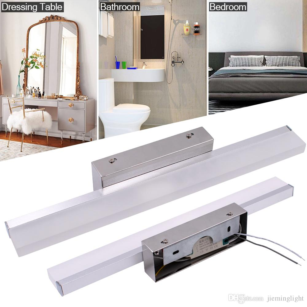 2020 Linear Wall Sconce Led Bathroom Vanity Lighting Fixture White Light Wall Mounted Morden Bath Light Bar Silver Color From Jieminglight 60 81 Dhgate Com