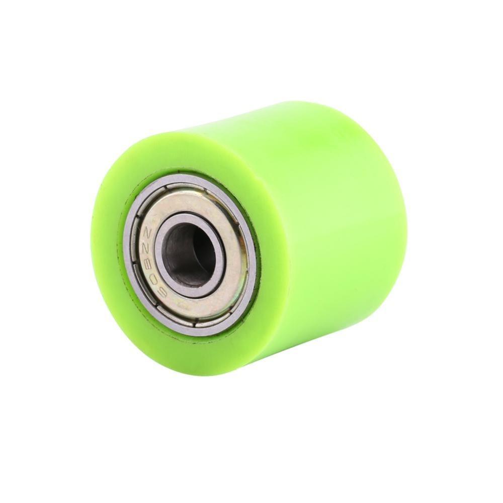 Gu/ía de la rueda del tensor del rodillo deslizante de la polea de la cadena de transmisi/ón de 8 mm//10 mm para moto de calle ATV (M = 8 mm, L = 10 mm L-rojo