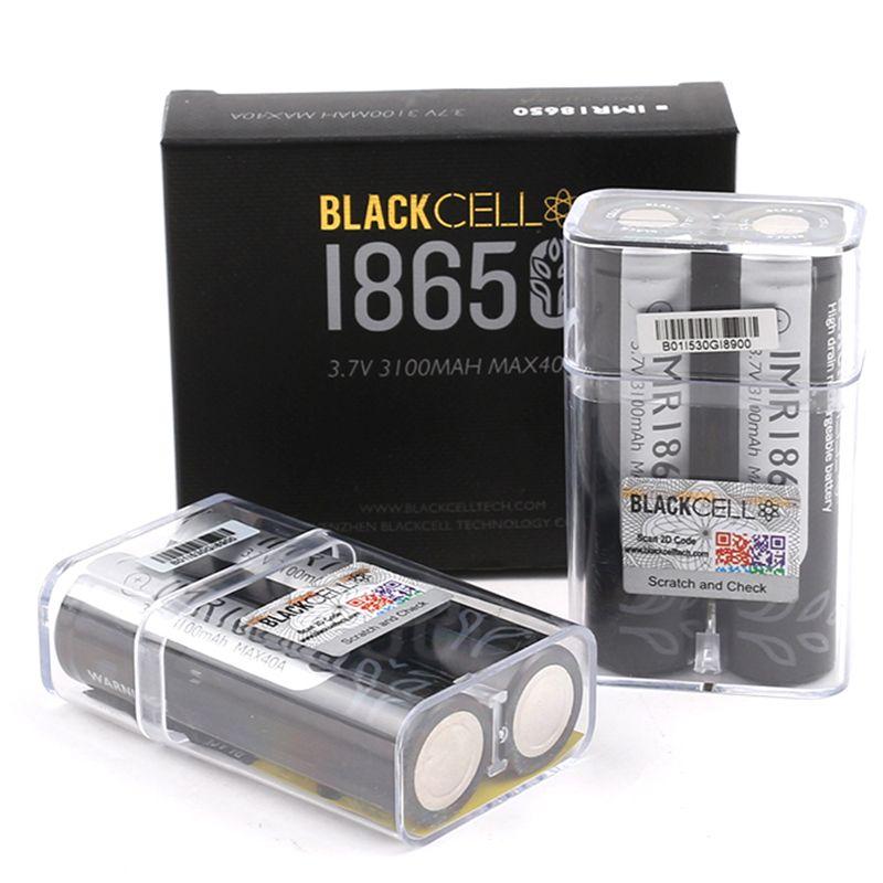 100% de alta calidad Celda negra 18650 Batería 3100mAh IMR 3.7V 3100 40A E CI CIG Baterías de litio recargables