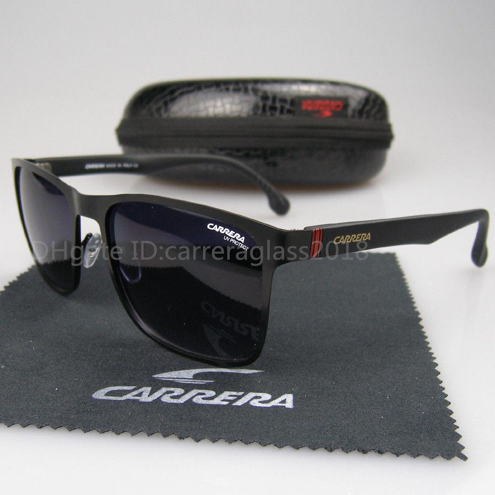 durumda ve kutu ile Yüksek kalite Kare Mat Metal Çerçeve Retro Güneş Moda Erkekler ve Kadınlar Vintage Spor Güneş gözlüğü