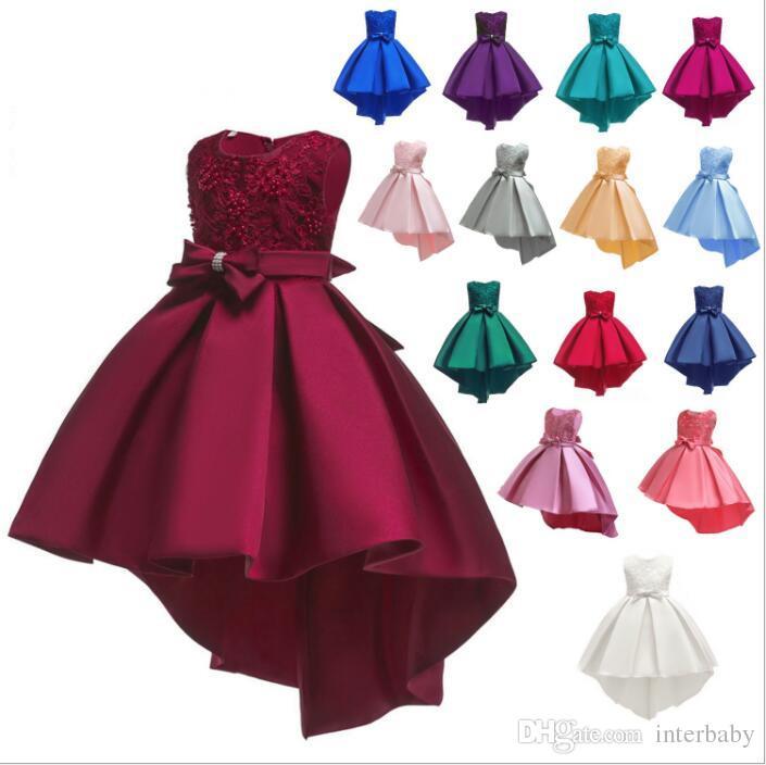 Bebek Giyim Pageant Gelinlik Giydirme Düğün Balo Prenses Elbiseleri Büyük Çocuklar Yaz Örgün Parti Elbise Dans Tutu Elbise Kostüm 4608