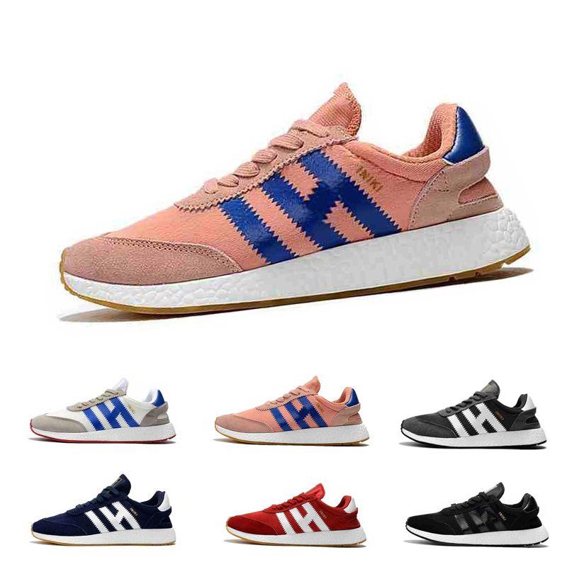 2019 Shoes New alta qualidade Iniki Runner sapatilhas clássicas Iniki Homens Mulheres Azul Cinzento Vermelho Couro executando EUR 36-45