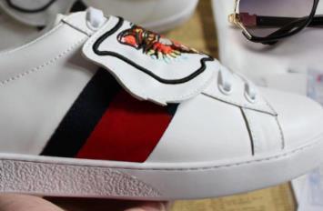 tigre blanco zapatos de diseño de la abeja serpiente-ed diseñador del cuero genuino para hombre de la zapatilla de deporte de las mujeres ocasionales Zapatos