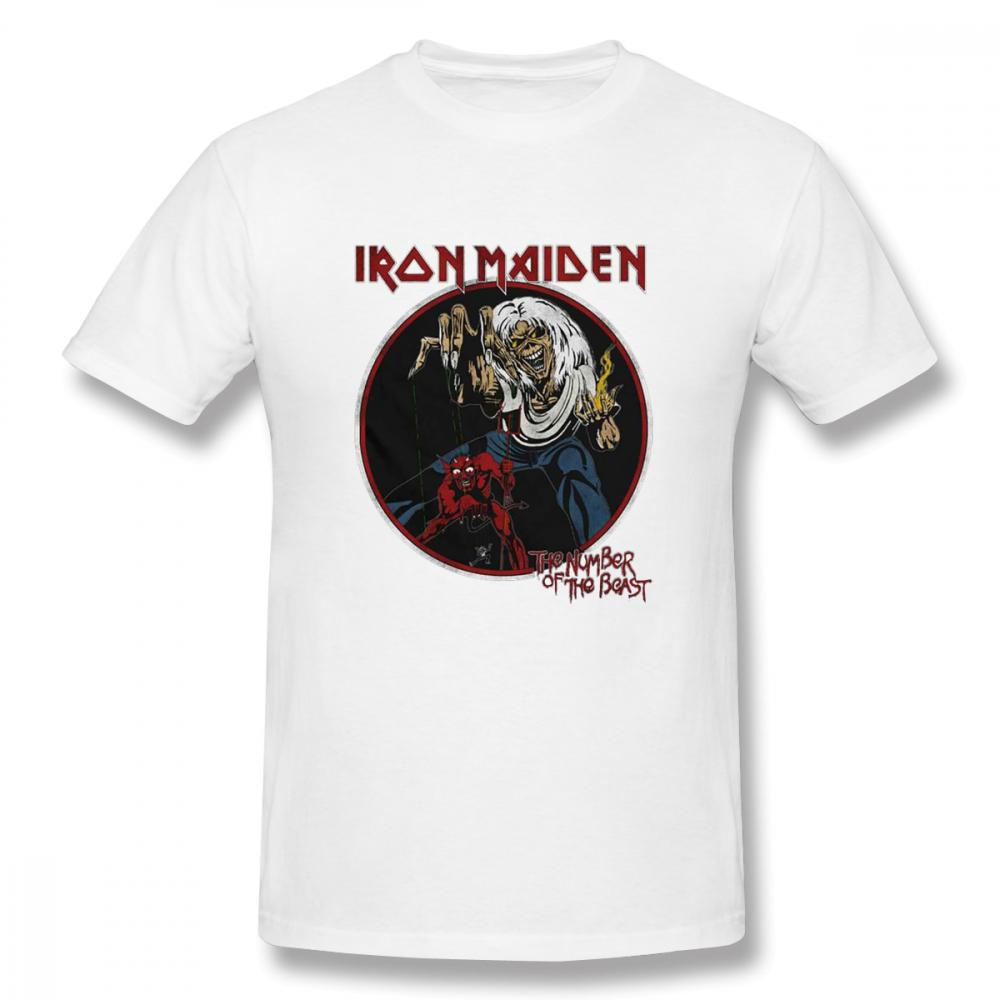 short sleeves T-shirt Amplified Mens Iron Maiden Killers Classic Vintage Rock T Shirt Cotton Womens Shirts s1303