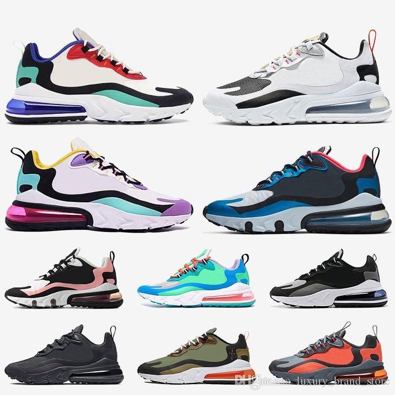 nike air max 270 react Nouvelle arrivée air réagir hommes chaussures de course top qualité triple noir blanc gris mode hommes formateurs sport respirant baskets