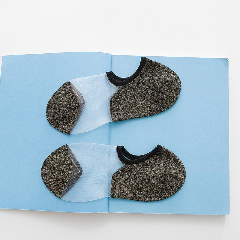 INS Новых японского стекла Женщины Носки Мода золото и серебро тема Женских носки Носки оптом продажа