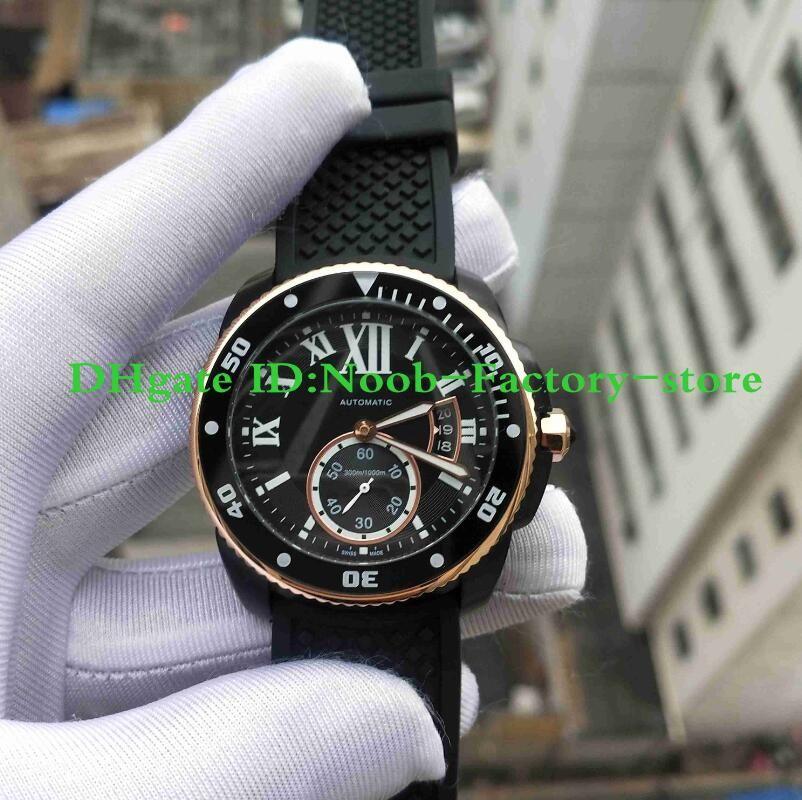 Fabrik Fotos Männer CALIBER DE Serie W2CA0004 Uhr Super-LumiNova Uhr Automatikwerk Arbeit Sport Armbanduhren Original Box