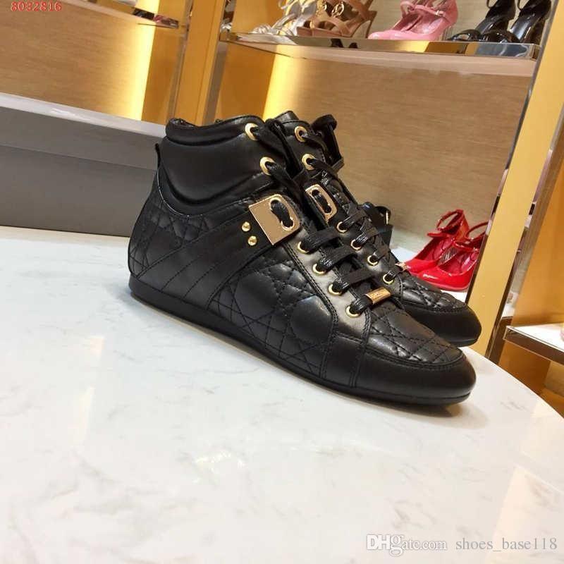 novas mulheres a melhor qualidade Moda subir originais personalização Moda sapatos desportivos cores preto e branco com saco de poeira