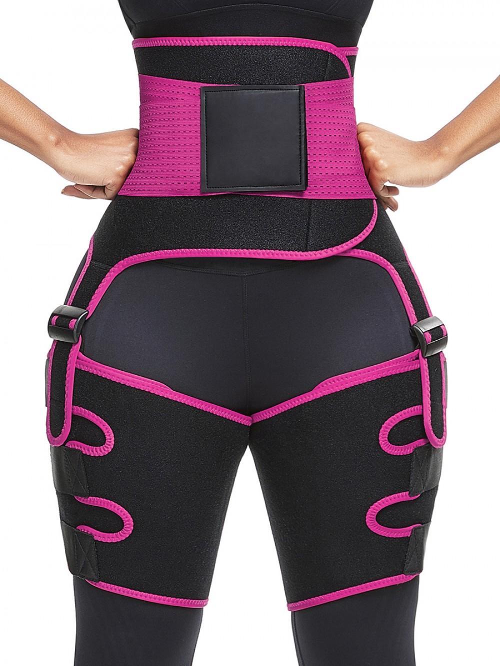 3-en-1 de cintura alta del muslo Trainer Trimmer Hip Enhancer yoga de la aptitud Peso Butt Lifter que adelgaza la correa de soporte Hip Enhancer Fajas para la Mujer