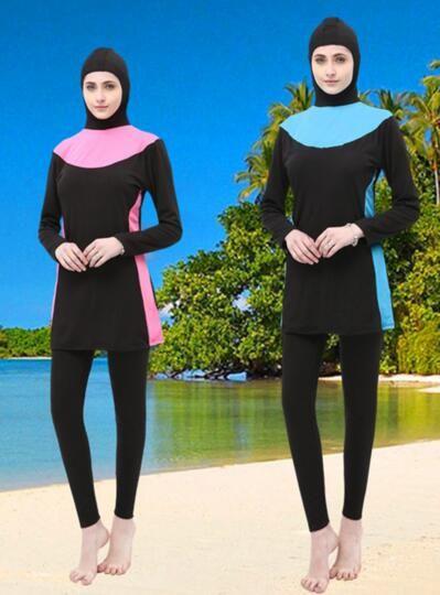 2019 neue arabisch-muslimische Badebekleidung; Badeanzug; Bikini Badeanzug flexible stilvolle Beach Wim Wear für Frauen Schwimmsport Hosen