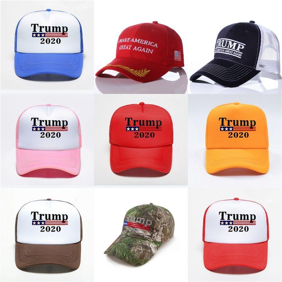 Donald Trump 2020 chapeau de pêcheur Keep America Great Bucket Chapeaux Casquettes Été Mode crème solaire Chapeaux de fête Fournitures 17Styles Rra3136 # 994