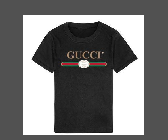 2019 filles Mode d'été garçons Vêtements pour enfants Designer à manches courtes T-shirt Imprimer Chat shirt Hauts garçon T-shirts 2-8T ans