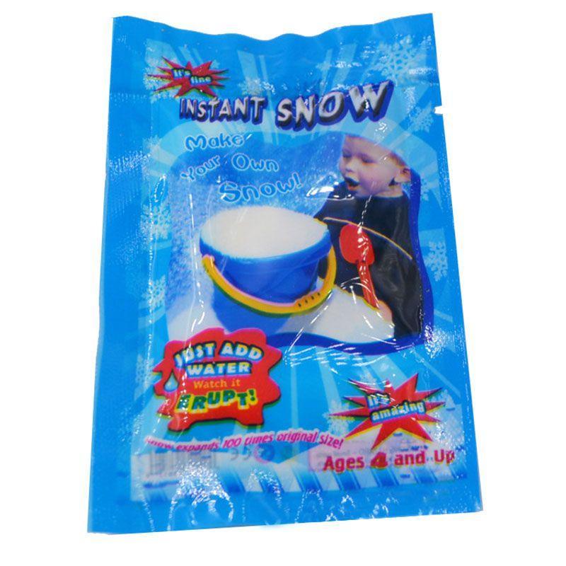 عيد الميلاد الاصطناعي الثلج المسحوق السحري الانتفاخات في الثلج المياه مسحوق حفلة عيد الميلاد الديكور المرح للأطفال اللعب وهمية سنو السحر الدعامة