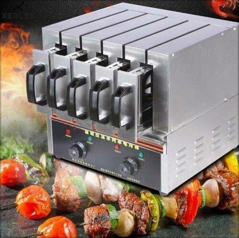 Dernier modèle commercial Brochettes d'agneau machine électrique chaîne de cuisson au four gril électrique linge Barbecue machine Barbecue 3900W LLFA