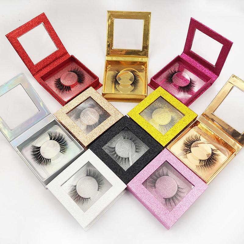 3D Nerz Wimpern Auge Faux Nerz Wimpern weiche natürliche dicke falsche Wimpern mit quadratischer Verpackung Wimpernverlängerung Beauty Tools GGA2472