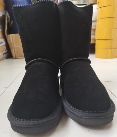 2020 NE Mode Hommes Femmes Classique Bottes neige longue cheville Arc court en fourrure Resp Bottes pour l'hiver Noir marron Boot Chaussures plateforme Casual 35-45