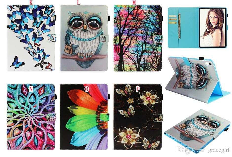 For Ipad Air3 Air 3 2019 Pro 10.5 2017 Mini 1 2 3 4 5 Mini5 Cartoon Owl Wallet Leather Case Bling Butterfly Flower Keep Calm Cover 80pcs
