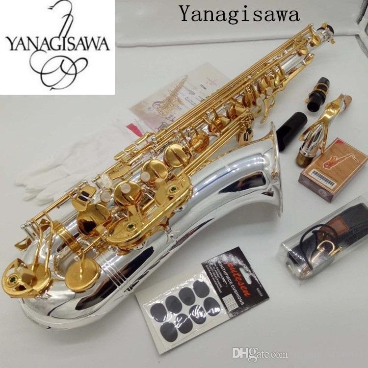 الجديد تينور ساكسفون ياناجيساوا W037 آلات موسيقية ب ب لهجة نيكل بالفضة أنبوب الذهب مفتاح ساكس مع حالة لسان الحال