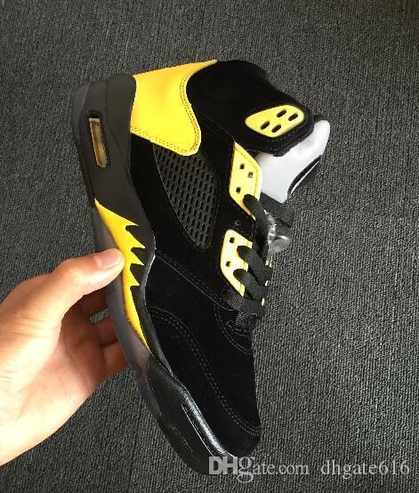 Barato para hombre nuevo Jumpman 5 V zapatillas de baloncesto 5s OG Marina Metálica Bronce Cobre Oro blanco J5 vuelo aéreo zapatillas de deporte botas j5 para la venta