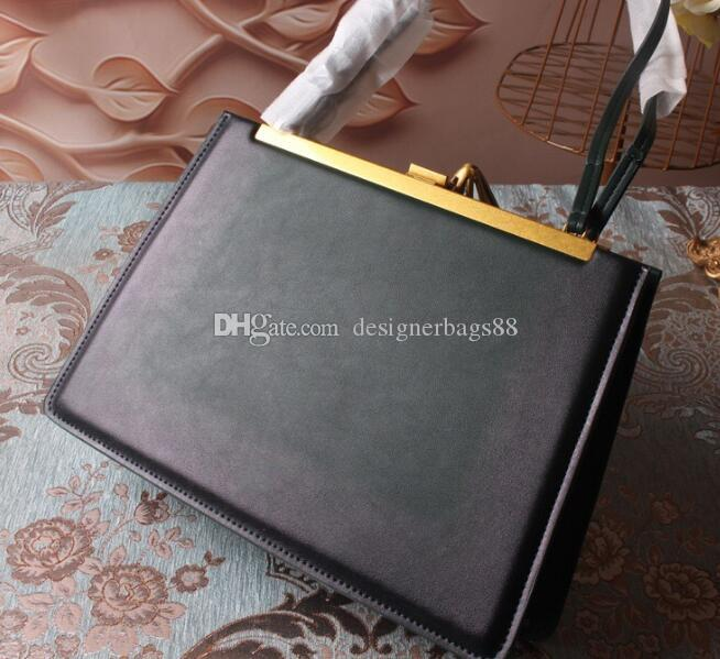 Luxo Lady Real Leather saco clipe Ferrolho Gradiente de cor Bolsas Saco Designer Ombro Cadeia Handbag Crossbody Bolsa de compras sacolas
