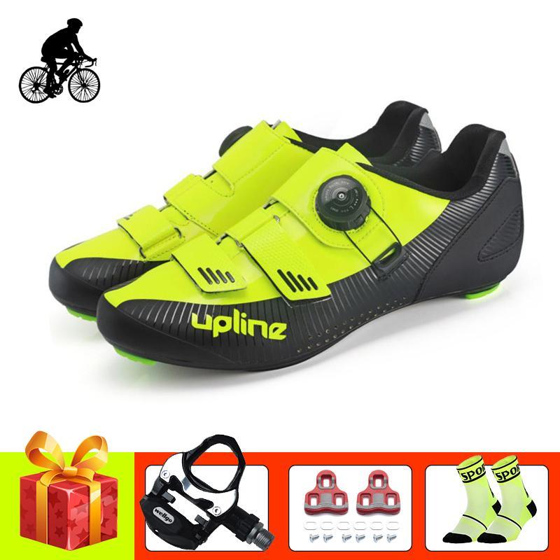 Estrada ciclismo adicionar pedais da bicicleta homens sapatilha sapatos respirável estrada bicicleta de travamento automático Ciclismo sneakers ultraleves atléticas