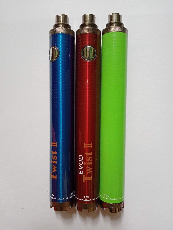 EVOD Twist 2 VV battery 1100mAh Variable Voltage 3.3v-4.8v eVod Twist II Electronic Cigarette for MT3 CE4 Atomizer 510 eGo Atomizer