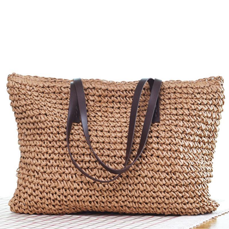 Gepäck Heiße Frauen Straw Bag Bohemia Handtasche Strandhandgemachte Weiden Sommer Taschen Rattan Schultertaschen