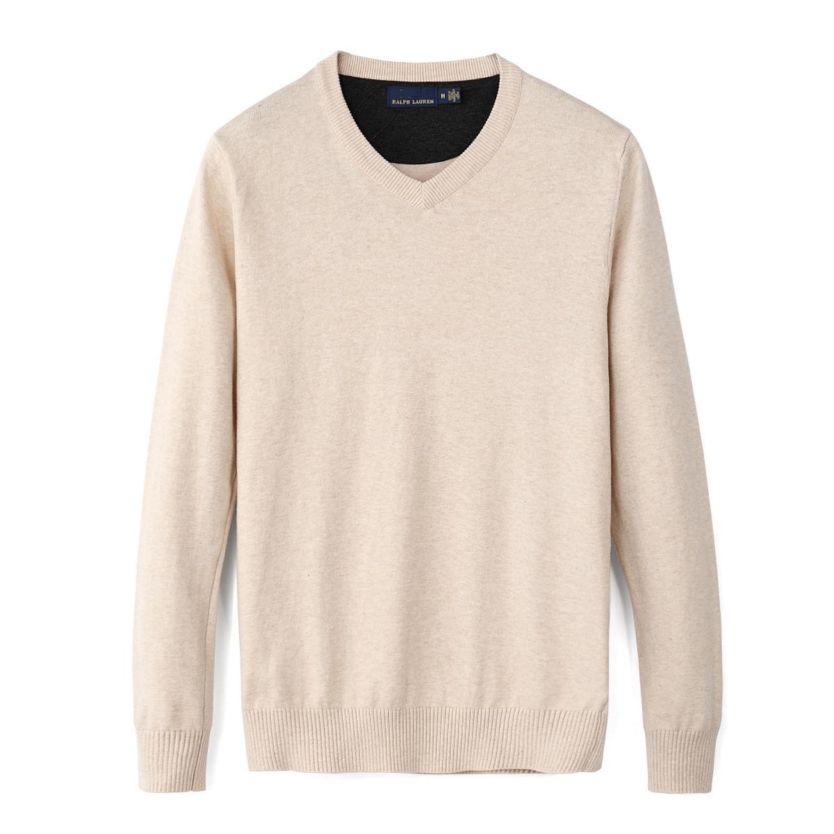 망 말 스웨터 가을 겨울 새로운 캐주얼 V 넥 남성용 폴로 스웨터 100 % 코튼 풀오버 남성 스웨터 무료 hotklj