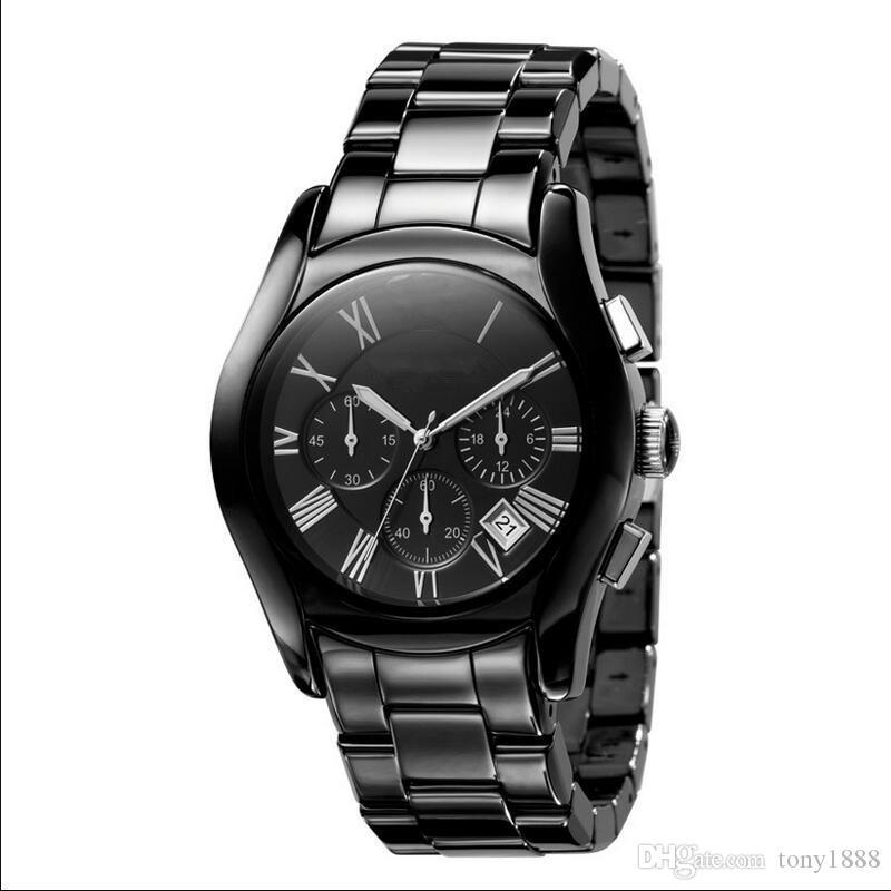 Envío de la gota AR1400 AR1410 AR1440 AR1446 AR1451 Relojes de cuarzo de alta calidad para hombres Relojes de cerámica Venta caliente