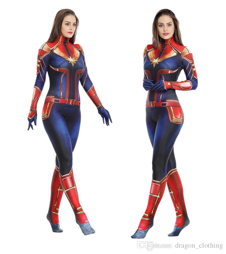 Ms Marvel Cosplay Captain Marvel Costume Carol Danvers Bodysuit Women Outfit But, as with many female superheroes at the time, she wasn't fully dressed. موسسه مالی بازرگانی پارسیان psbf