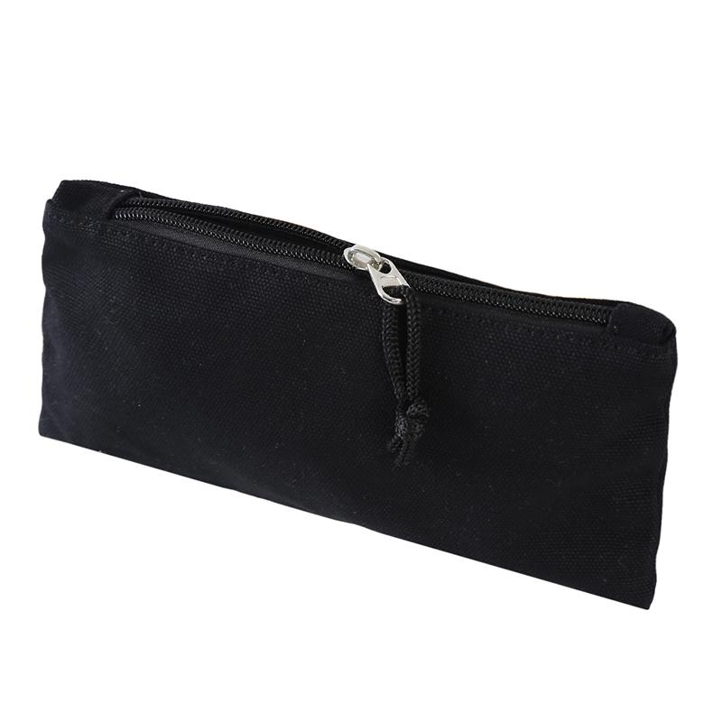 Multipropósito cosmético del bolso con cierre de cremallera llano DIY maquillaje natural bolsa de lona de algodón de viaje de artículos de tocador bolsa
