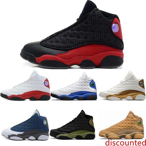 Ucuz En İyi Klasik Erkek Basketbol Ayakkabı 13 13s GS Hiper Kraliyet İtalya Mavi Chicago Bred DMP Buğday Zeytin Fildişi Kara Kedi Erkekler Spor Spor ayakkabılar