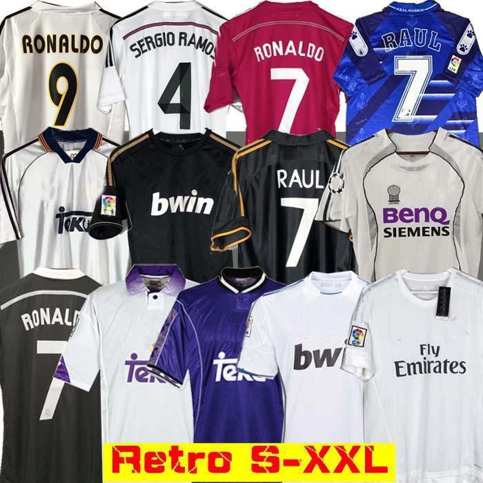 Реал Мадрид Ретро 10 11 12 Футбол Футбол Джерси Гути Рамос Макманаман 13 14 15 16 Роналдо Зидан Бекхэм 06 07 RAUL 99 00 Redondo 98 97 96