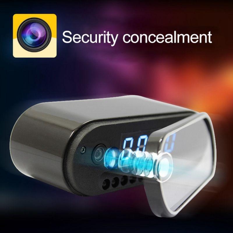 HD WIFI saat kamera 1080P H.264 gece görüş çalar saat, mini kamera DVR kablosuz ağ kamera ev güvenlik Dadı kamerası