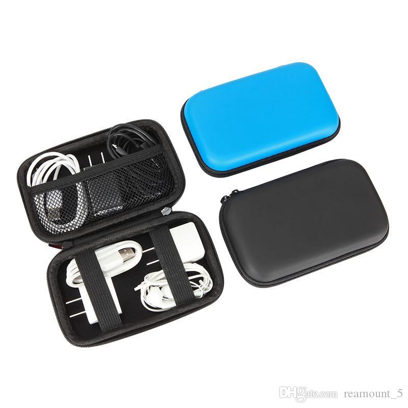 Großhandel benutzerdefinierte pu eva tasche für usb kabel ladegerät kopfhörer tragbare mini lagerung reißverschluss tasche für telefon zubehör produkte
