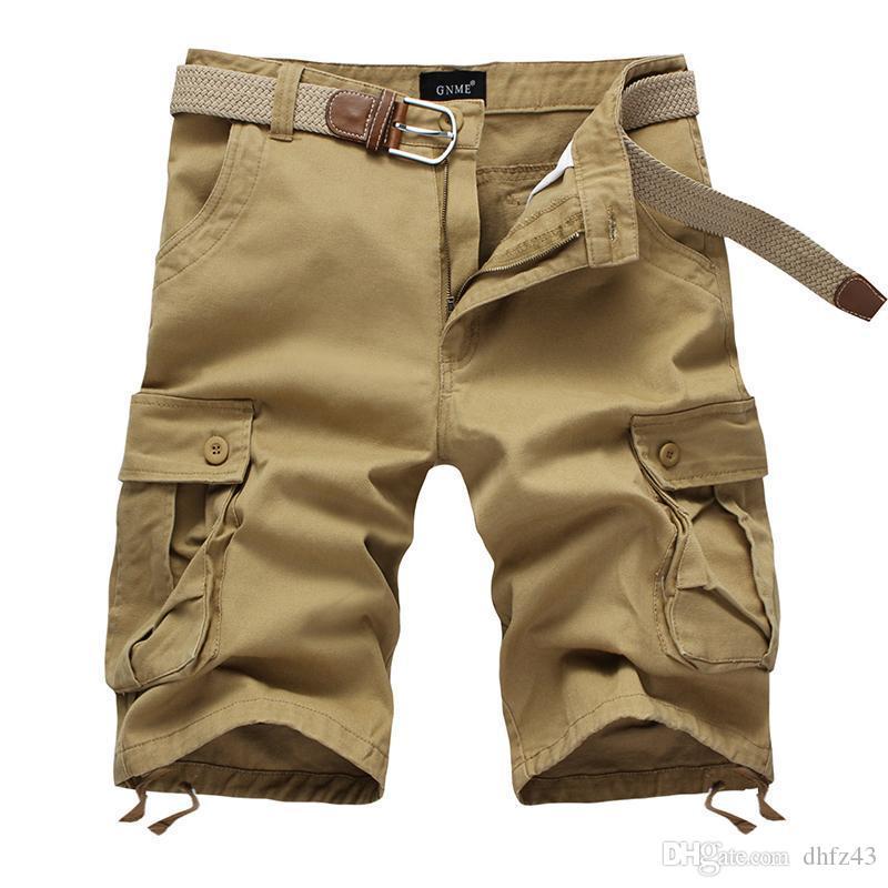 Оптовая продажа-летние мужские армейские грузовые рабочие повседневные шорты-бермуды мужчины классическая мода общие брюки плюс размер Masculina Beach Short Plus