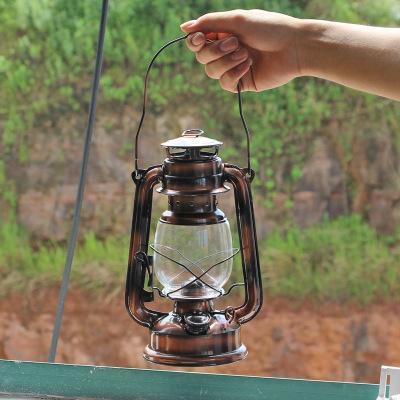 Vintage Romantic Glass Oil Lamp Home Room Light Decor Kerosene Burner 15cm