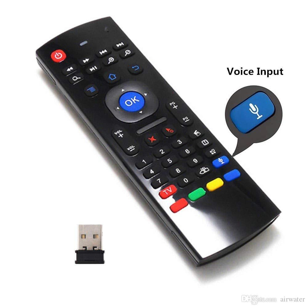이러한 무선 미니 키보드 에어 마우스 원격 제어 2.4G 감지 자이로 스코프 센서 MIC 콤보 MX3를 들어 MXQ M8S S905 안드로이드 TV BOX