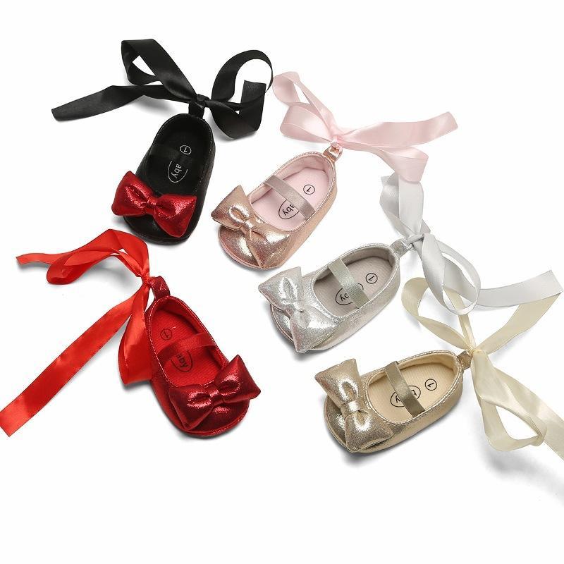 Mocassins bébé mignon coeur arc bébé Prewalker PU cuir enfants chaussures pour garçons filles soft anti-slip semelle 04