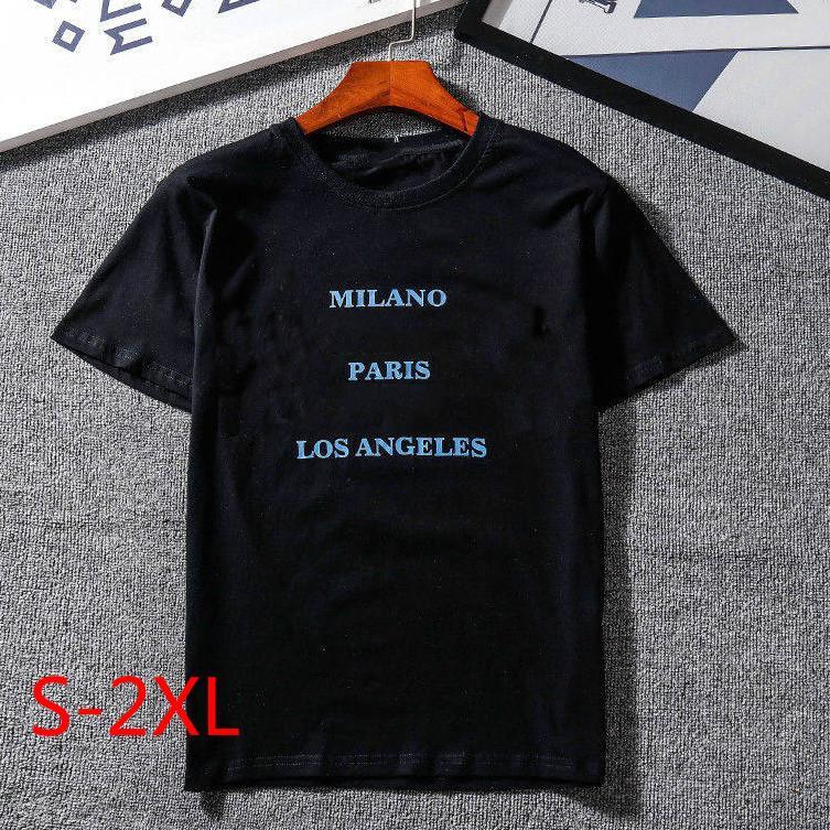 Venta caliente para mujer para hombre Camiseta con la marca de impresión de letras asiática Diseñador Tamaño tapa de la manera camisetas de manga corta de la camiseta ocasional S-2XL XY1881701 ** 2