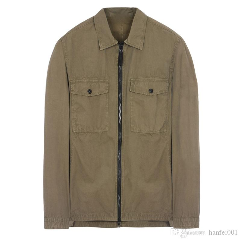 18FW 107WN OVERSHIRT OLD GARMENT DYE Shirt TOPST0NEY Uomo Donna Giacca Facshion Cappotto in cotone Top HFLSJK324