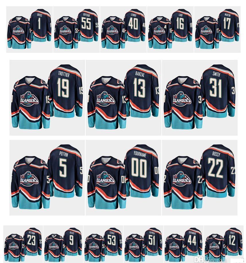1995 Vintage New York Islanders Jersey 12 Josh Bailey 13 Mathew Barzal 16 Andrew Ladd 5 Denis Potvin 19 Bryan Trottier 31 Billy Smith Hockey